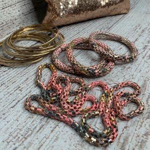 Fashion Jewelry Set Of Bracelets Matching Necklace